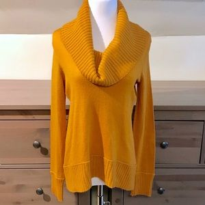 Cynthia Rowley Orange Knit Cowl Neck Sweater